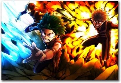 my hero academia anime wall poster
