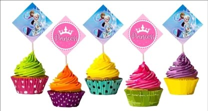 Balloonistics Frozen 3rd Birthday Cup Cake Topper Set Of 20 Pieces Frozen Theme Birthday Party Supplies Frozen Birthday Party Decoration Cupcake Topper Price In India Buy Balloonistics Frozen 3rd Birthday Cup