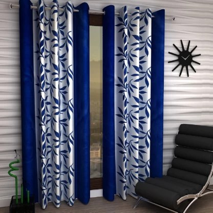fashion string 214 cm 7 ft polyester door curtain pack of 2