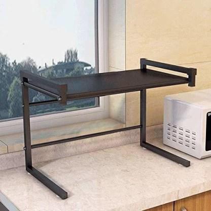 plantex microwave storage stand oven stand kitchen storage shelf rack black containers kitchen rack