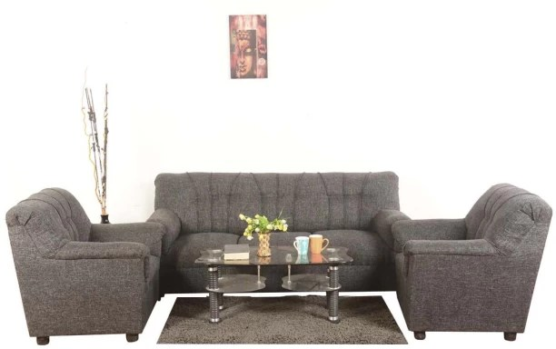 Sofa Set  Buy Sofa Sets Online at Best Prices in India Roman Living Hastings Fabric 3   1   1 Grey Sofa Set