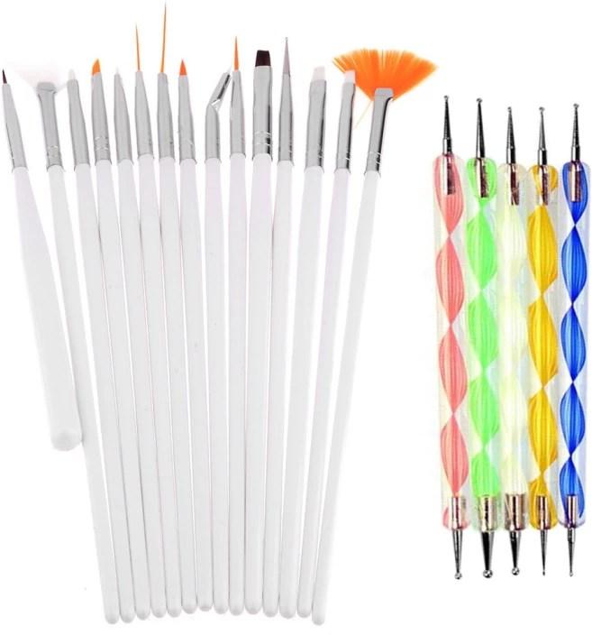 7pcs Set Diy Professional Nail Art Brush Design Painting Tool Pen Polish Gel
