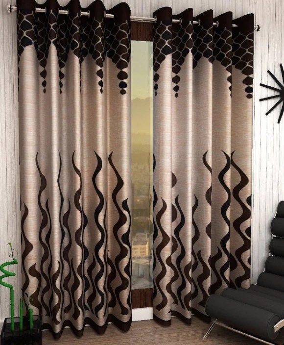 Home Sizzler Polyester Door Curtain 214 Cm 7 Ft Pack Of