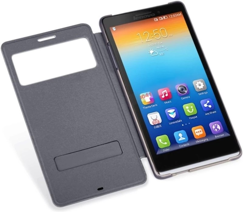 Lenovo Flip Cover for K910L(Blue, Plastic, Leather)