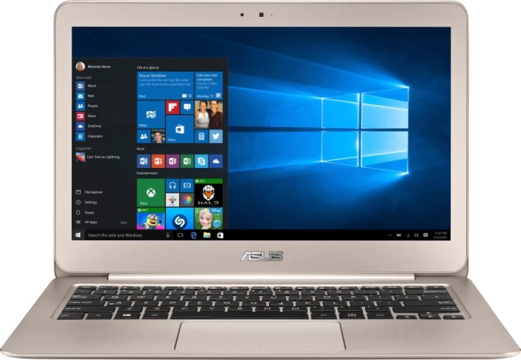 Asus Zenbook Core m5 5th Gen - (4 GB/256 GB SSD/Windows 10 Home) UX305FA-FC129T Thin and Light Laptop(13.3 inch, Aurora Metallic Gold, 1.20 kg)