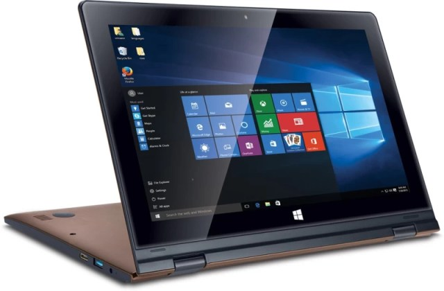 Iball Flip X5 Atom 5th Gen - (2 GB/32 GB EMMC Storage/Windows 10) Flip-x5 2 in 1 Laptop(11.6 inch, Brown, 1.37 kg)