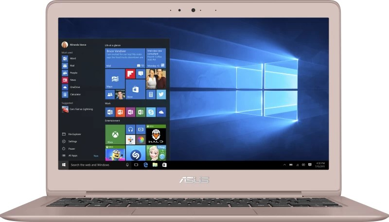 Asus Core m3 7th Gen - (4 GB/256 GB SSD/Windows 10 Home) UX330CA-FC018T Thin and Light Laptop(13.3 inch, Gold, 1.2 kg)