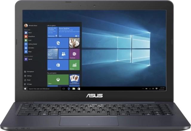 Asus EeeBook Celeron Dual Core - (2 GB/32 GB EMMC Storage/Windows 10 Home) E402SA-WX013T Laptop(14 inch, Dark Blue, 1.65 kg)