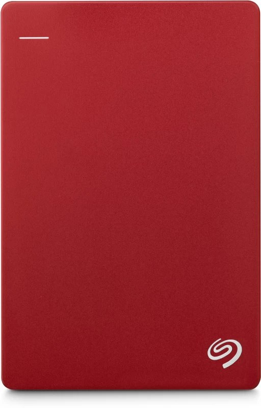 Seagate Plus Slim 1 TB Wired External Hard Disk Drive(Red, Mobile Backup Enabled)