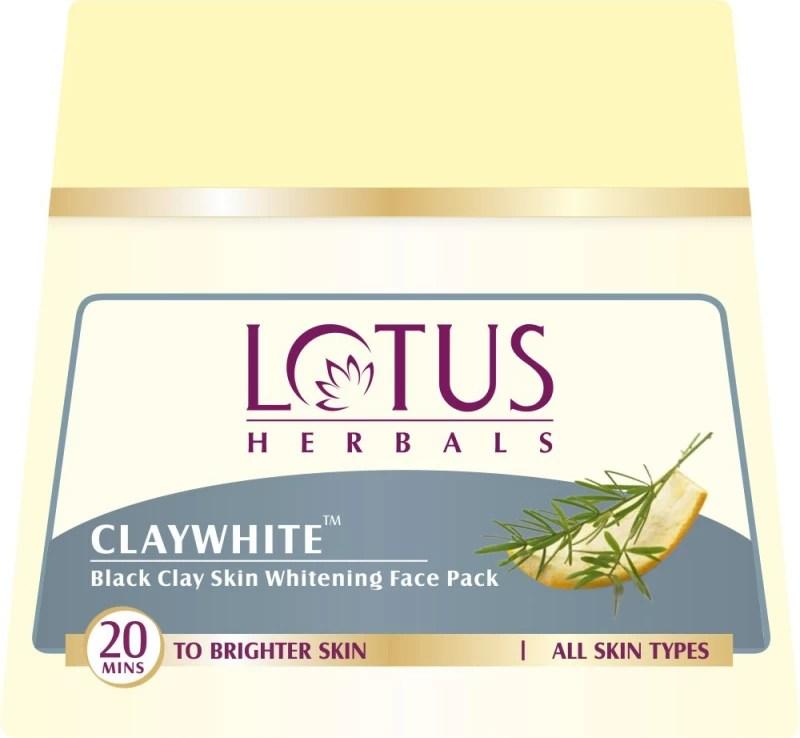 Lotus CLAYWHITE Black Clay Skin Whitening Face Pack(350 g)