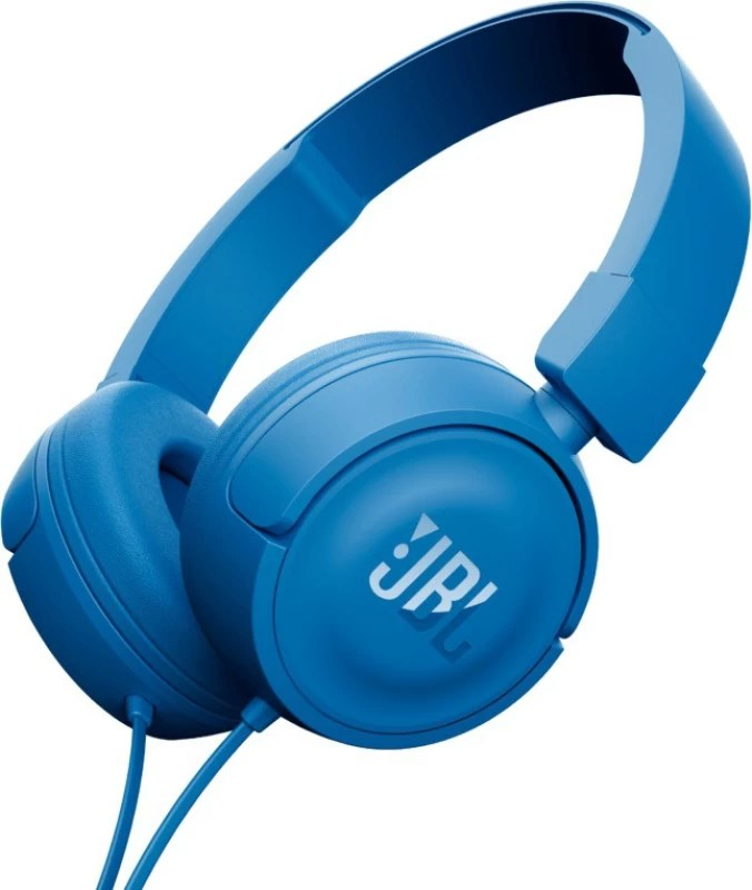 JBL T450 BLUE Wired Headphone(Blue, On the Ear)