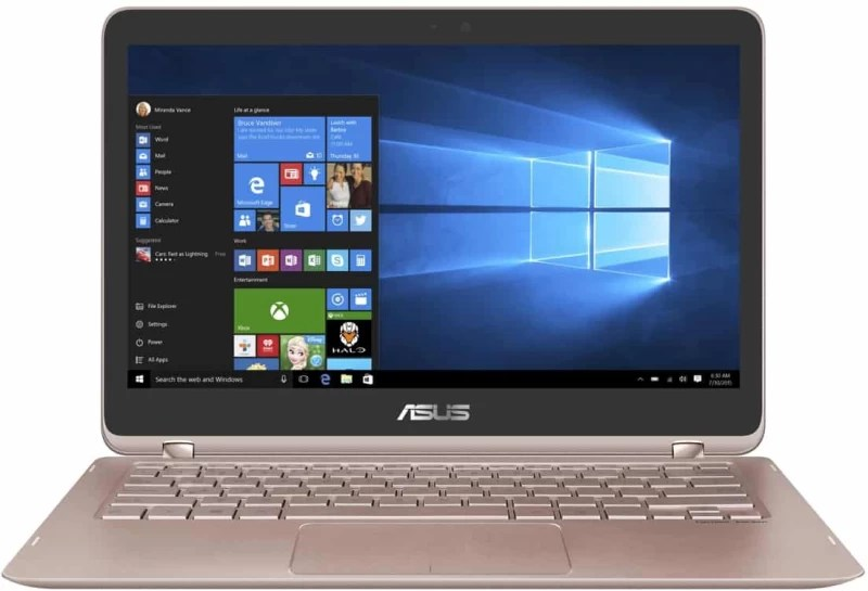 Asus Zenbook Flip Series Core i7 7th Gen - (8 GB/512 GB SSD/Windows 10 Home) UX360UAK-DQ213T Thin and Light Laptop(13.3 inch, Rose Gold, 1.27 kg)