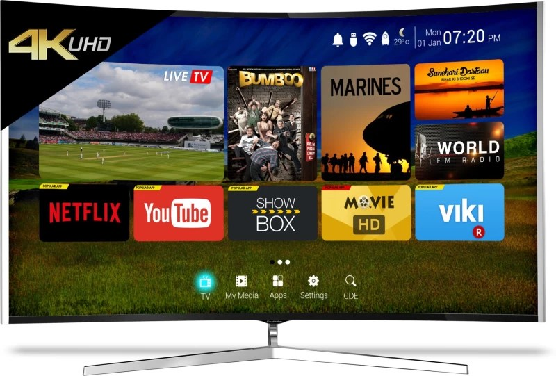 CloudWalker 165cm (65 inch) Ultra HD (4K) Curved LED Smart TV(CLOUD TV 65SU-C)