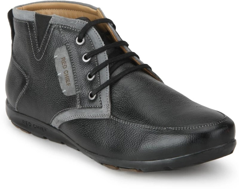 Red Chief Casuals For Men(Black)