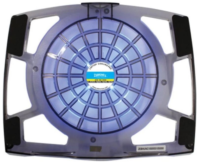 Zebronics NC1000 Cooler(BLACKISH FIBER PLASTIC BODY with blue LED and superior air flow)