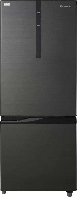 Panasonic 342 L Frost Free Double Door Refrigerator(Black, NR-BR347RKX1)