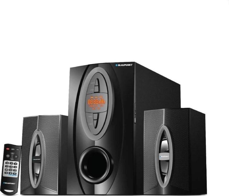 Blaupunkt SP-212 Bluetooth Home Audio Speaker(Black, 2.1 Channel)