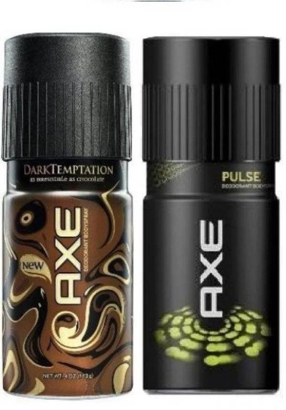 AXE Dark Temptation And Pulse Deodorant Dark Temptation And Pulse Deodorant Combo (Pack Of 2) Body Spray - For Men(300 ml, Pack of 2)