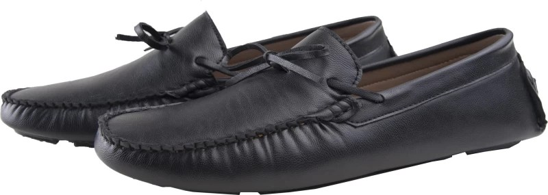 Elitous Laced Driver Loafers Loafers For Men(Black)