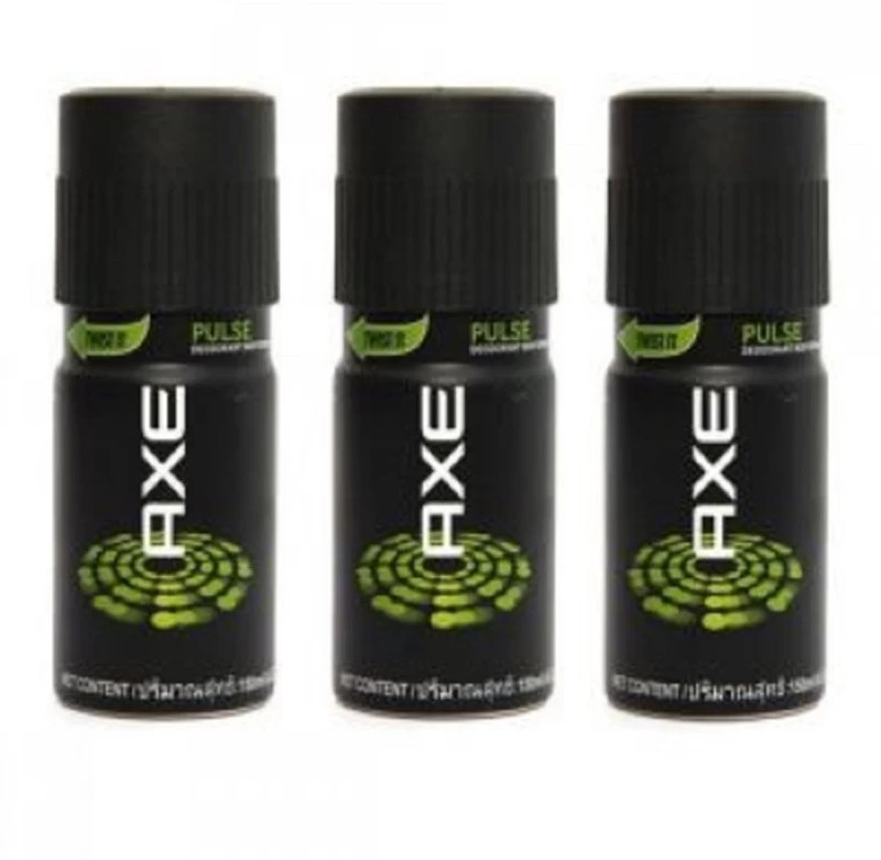 AXE Pulse Deodorant, 150ml X 3 COMBO Body Spray - For Men(150 ml, Pack of 3)