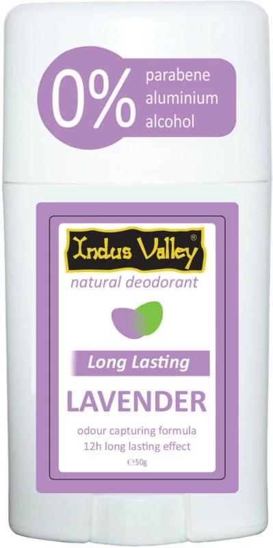 Indus Valley Lavender Natural Deodorant Stick - For Men & Women(50 g)