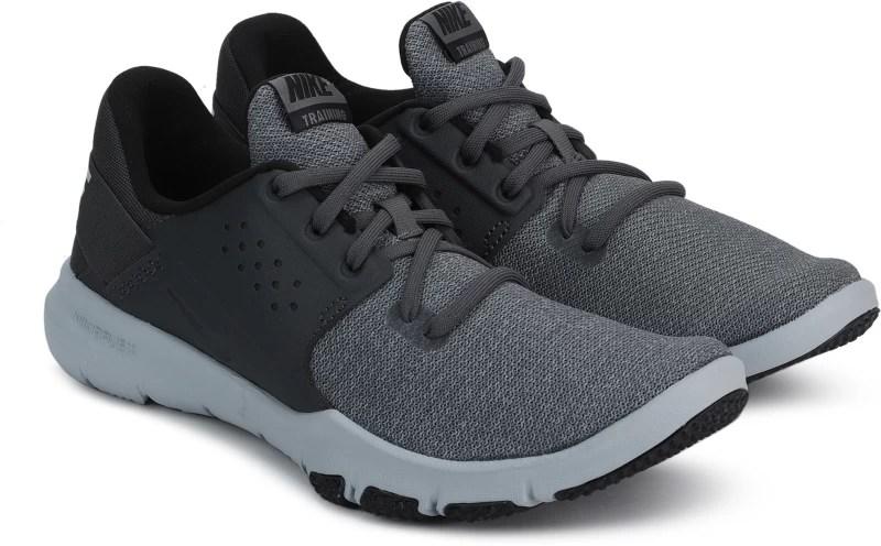 Nike NIKE FLEX CON SS-19 Training & Gym Shoes For Men(Grey, Black)