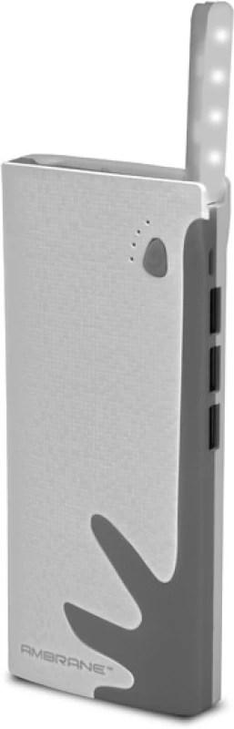 Ambrane P-1122 NA 10000 mAh Power Bank(White, Grey, Lithium-ion)