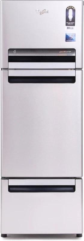 Whirlpool 240 L Frost Free Triple Door Refrigerator(Alpha Steel, FP 263D PROTTON ROY)