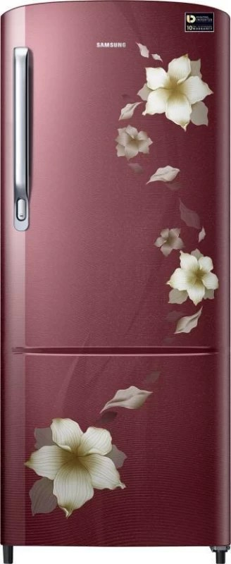 Samsung 192 L Direct Cool Single Door Refrigerator(Star Flower Red, RR20M272ZR2/NL,RR20M172ZR2/HL)