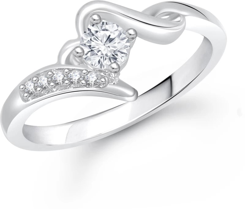 Meenaz Jewellery Diamond Silver Solitaire Rings For Girls Women Girlfriend Wife Couples Valentine Gifts Birthday Gifts Jewellery For Women Fr292 Alloy Ring Price In India Buy Meenaz Jewellery Diamond Silver Solitaire Rings