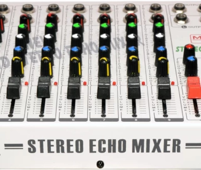 Medha Professional 9 Channel Stereo Mixing Console With Echo Top Quality 220 W Av Control Receiver