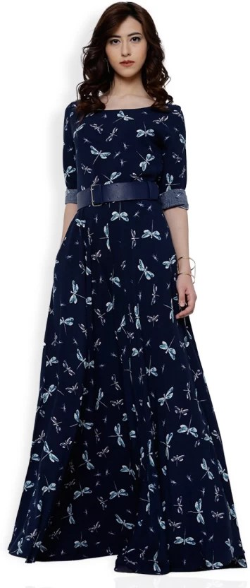 TOKYO TALKIES Women A-line Dark Blue Dress