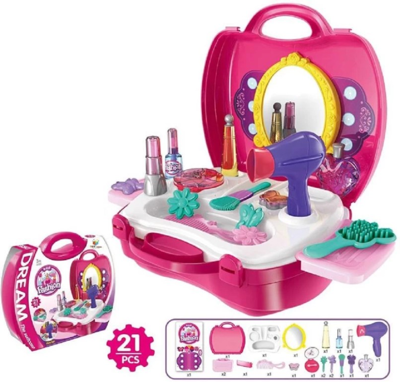 32d582e0194c9 Tiny S World Makeup Set For Children Girls Pretend Play Make Up Kit. Girls  Beauty Salon ...