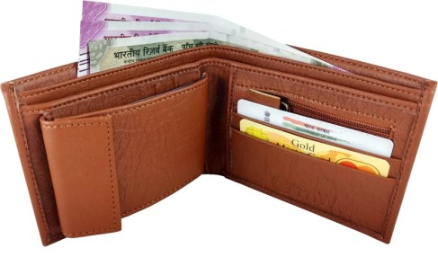 SA Enterprises Men Casual Tan Artificial Leather Wallet