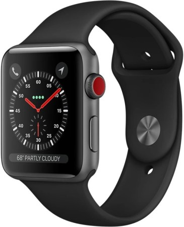 Apple Watch Series 3 GPS + Cellular - 42 mm Space Grey Aluminium Case with Sport Band