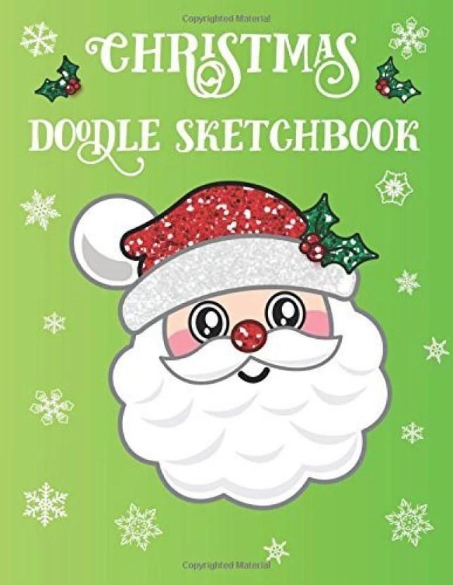 Generic Christmas Doodle Sketchbook Santa Emoji Sketch Book For