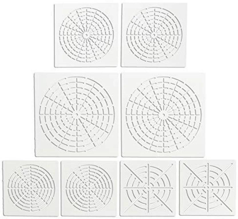 Gnognauq 8pcs Mandala Dotting Stencils Mandala Stencil Template