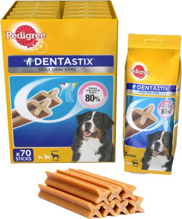 Pedigree Dentastix Large Breed Weekly Pack Oralcare Dog Food  (2700 g Pack of 10)