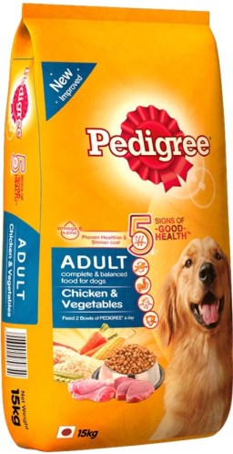 Pedigree Adult Vegetable, Chicken Dog Food  (15 kg Pack of 1)