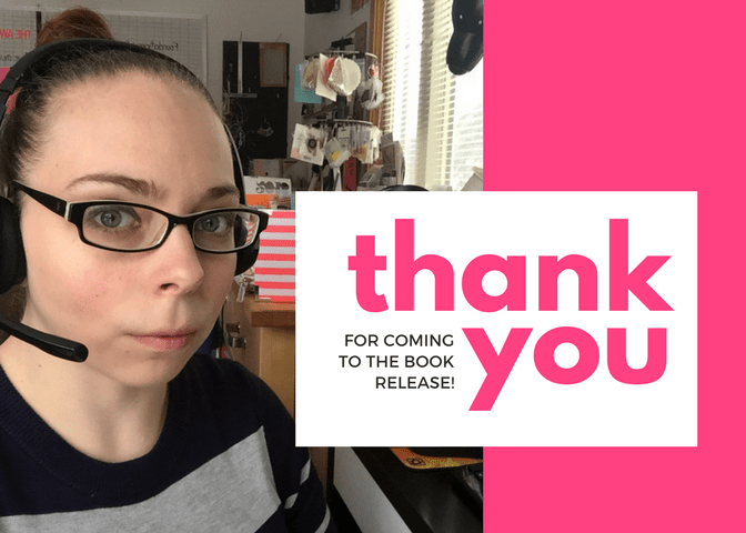 thank you book release