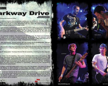 Parkway Drive, Concert Review