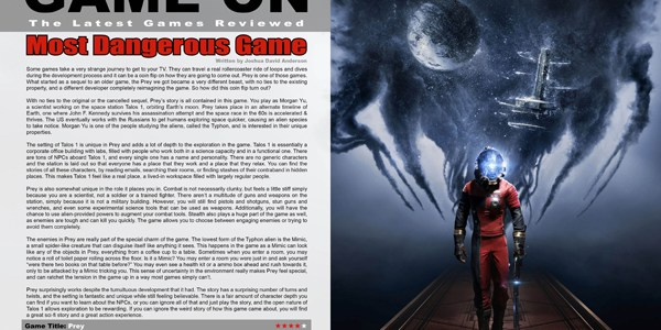 Prey, Game Review