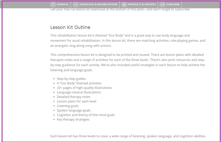 Med-el lesson description