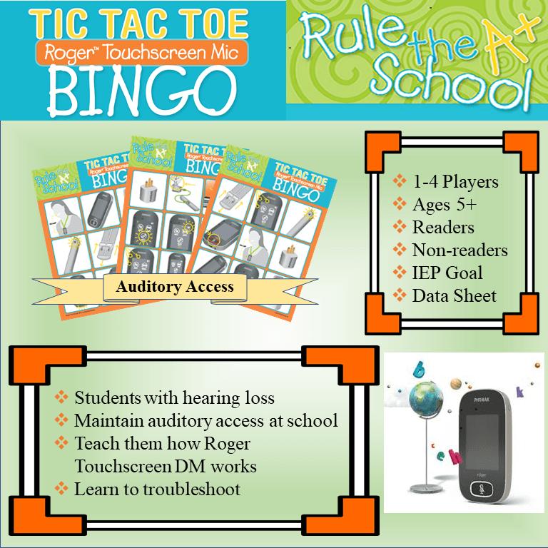 Roger Touchscreen Mic TicTacToe Bingo