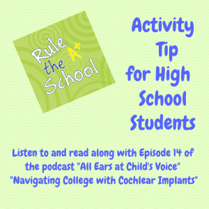 Activity tip for high school students