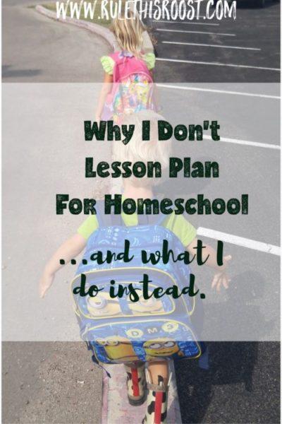 unschool unschooling homeschooling lesson plan