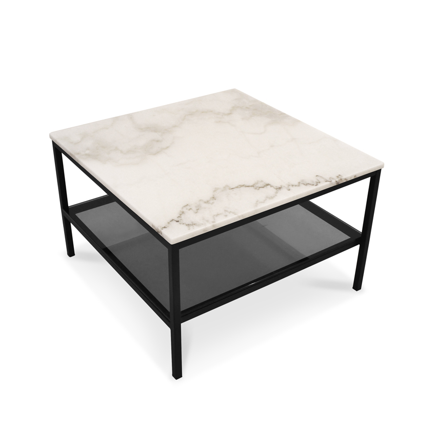 marta square marble coffee table