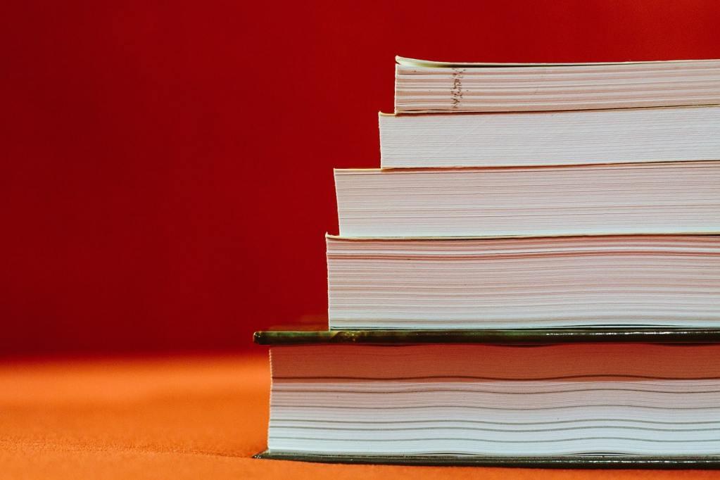 books, stack, reading