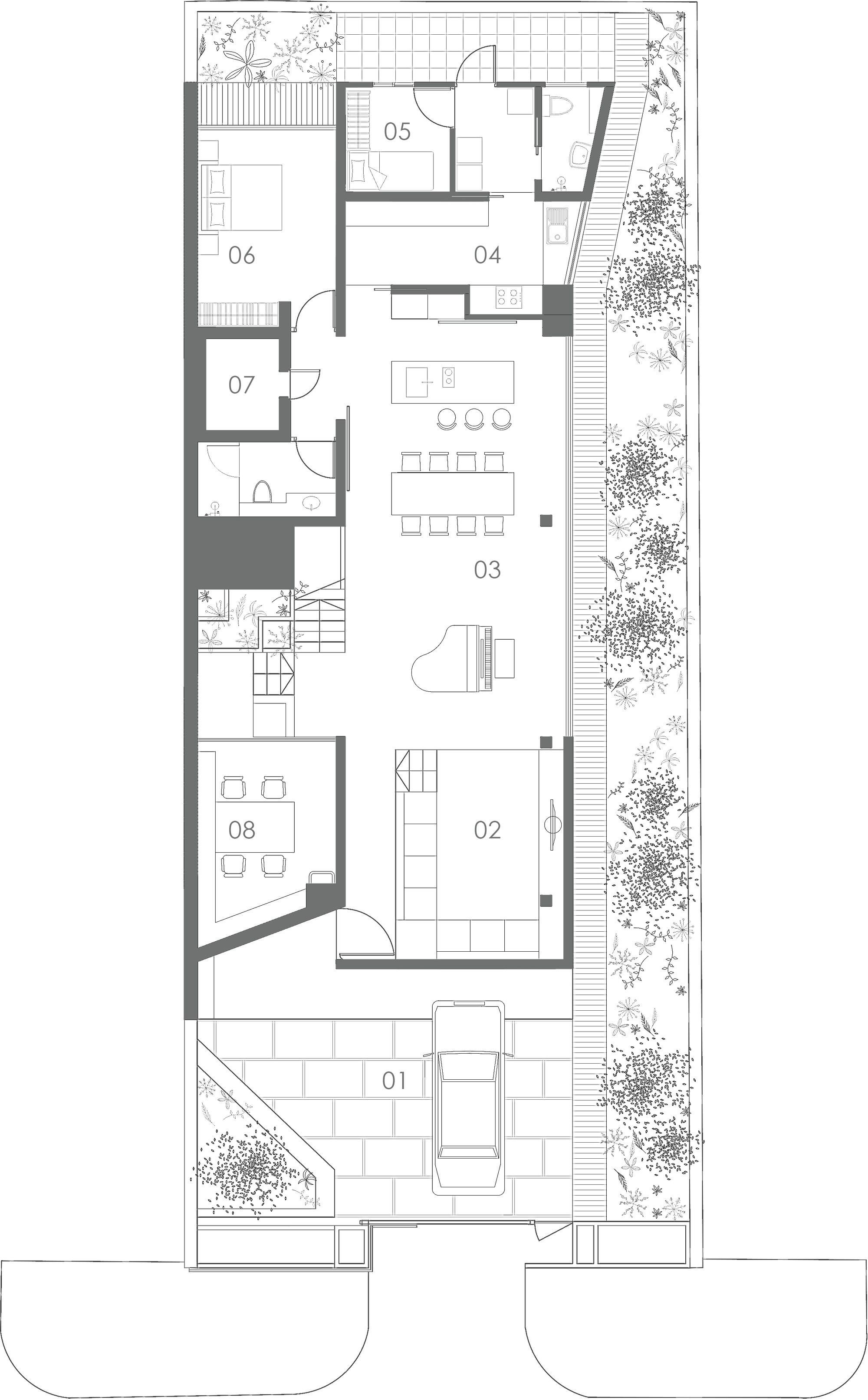 Image 10 of 15 from gallery of Terrace House Formwerkz Architects First Floor Plan
