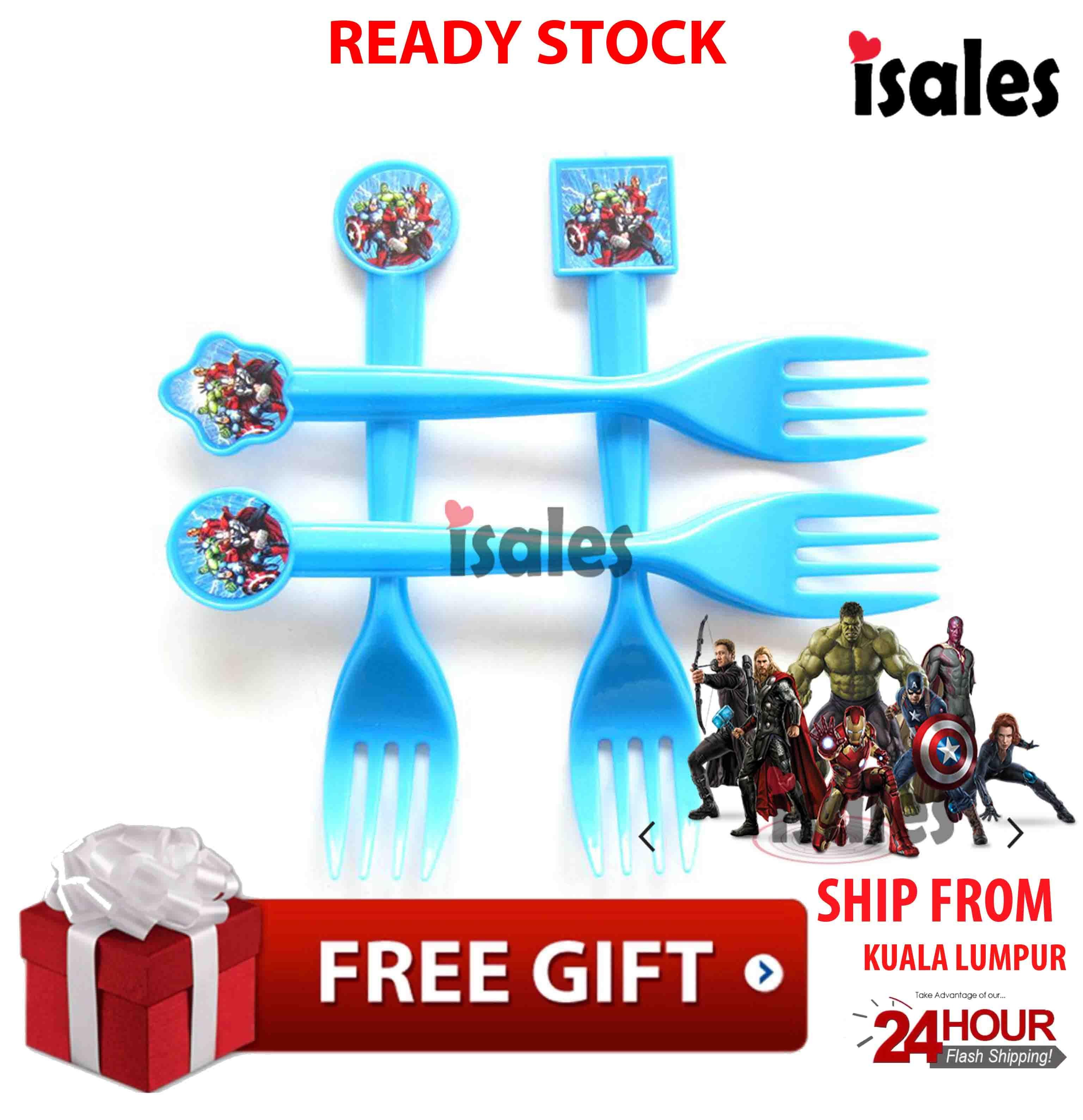 ISALES Avenger Theme Party Supplies Decoration Disposable Fork Birthday